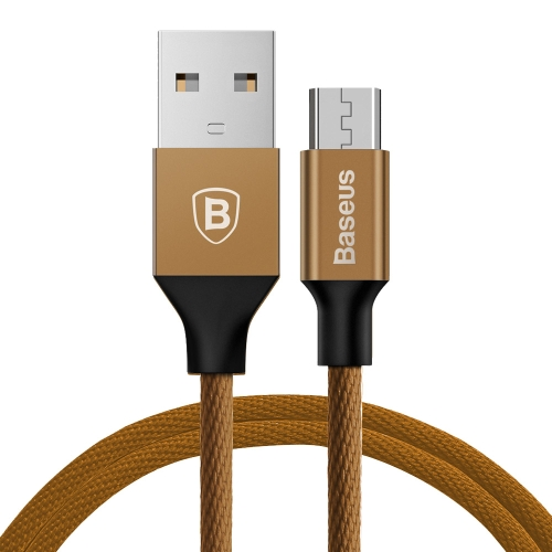 Baseus 1.5m 2A Yiven Cable Woven Style Metal Head Micro USB to USB Data Sync Charging Cable