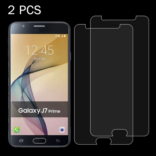 Buy 2 PCS For Samsung Galaxy J7 Prime 0.26mm 9H Surface Hardness 2.5D Explosion-proof Tempered Glass Screen Film for $1.10 in SUNSKY store