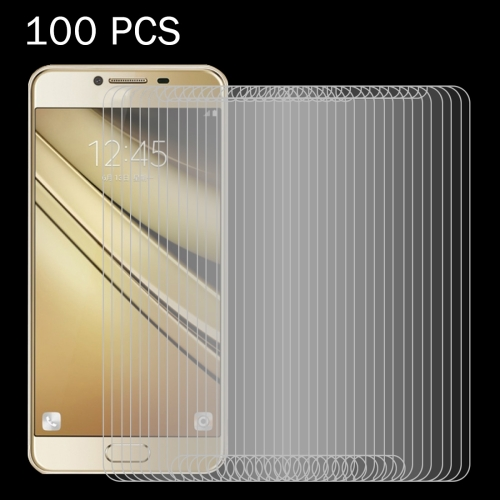Buy 100 PCS For Samsung Galaxy C7 / C700 0.26mm 9H Surface Hardness 2.5D Explosion-proof Tempered Glass Screen Film for $27.76 in SUNSKY store