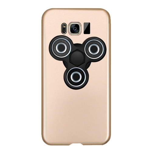 Buy For Samsung Galaxy S8 Triangle Gyro EDC Fidget Hand Spinner Protective Back Cove Case (Gold + Black) for $3.55 in SUNSKY store