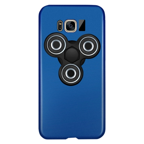 Buy For Samsung Galaxy S8 Triangle Gyro EDC Fidget Hand Spinner Protective Back Cove Case (Blue + Black) for $3.63 in SUNSKY store