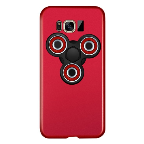 Buy For Samsung Galaxy S8 Triangle Gyro EDC Fidget Hand Spinner Protective Back Cove Case (Red + Black) for $3.55 in SUNSKY store