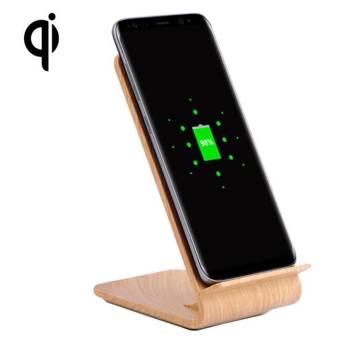 Buy YoLike A8 10W QI Wireless Standard Stand Light Wood Texture Charger for $11.35 in SUNSKY store
