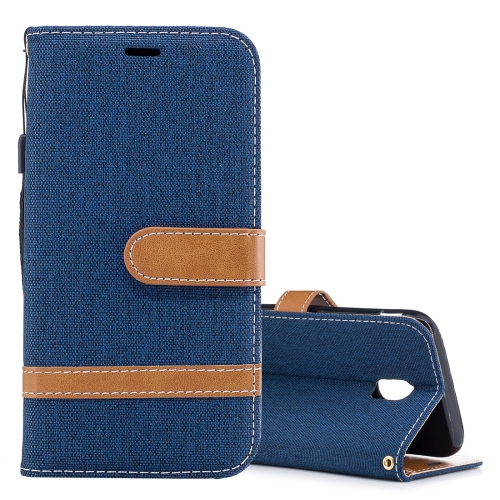 Buy For Samsung Galaxy J3, 2017 / J330  (EU Version) Denim Texture Leather Case with Holder & Card Slots & Wallet & Lanyard (Dark Blue) for $2.67 in SUNSKY store