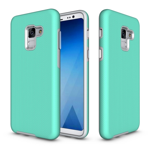 Buy For Samsung Galaxy A8, 2018 Anti-slip Armor Texture TPU + PC Protective Case Back Cover Shell, Green for $2.67 in SUNSKY store