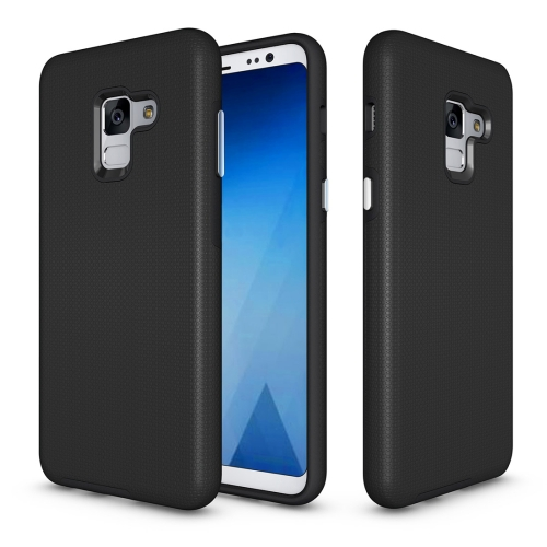 Buy For Samsung Galaxy A8+, 2018 Anti-slip Armor Texture TPU + PC Protective Case Back Cover Shell, Black for $2.67 in SUNSKY store