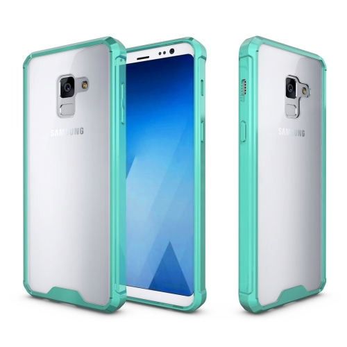 For Samsung Galaxy A8, 2018 Acrylic + TPU Shockproof Transparent Armor Protective Back Cover Case, Green