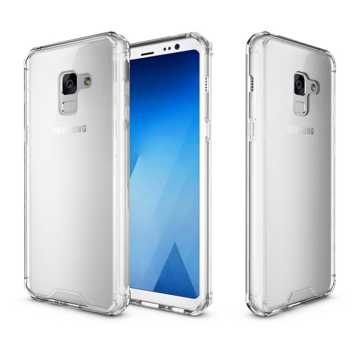 For Samsung Galaxy A8, 2018 Acrylic + TPU Shockproof Transparent Armor Protective Back Cover Case, Transparent