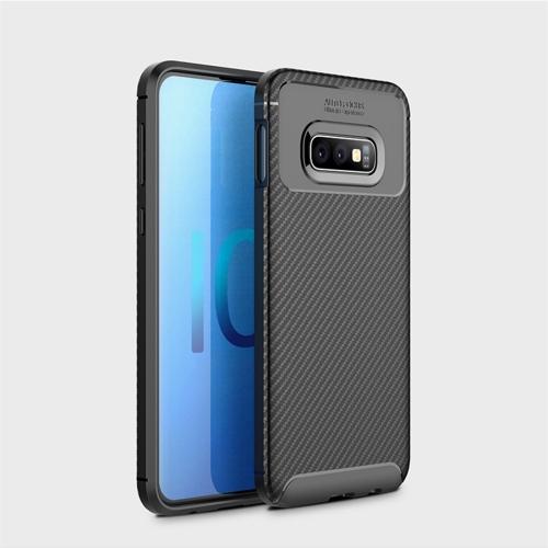 Carbon Fiber Texture Shockproof TPU Case for Galaxy S10 Lite (Black)