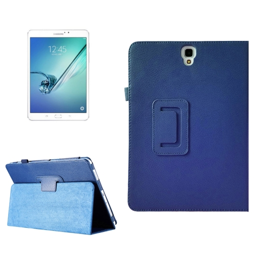 Buy For Samsung Galaxy Tab S3 9.7 / T820 Litchi Texture Horizontal Flip Leather Case with Sleep / Wake-up Function & Holder (Dark Blue) for $2.42 in SUNSKY store