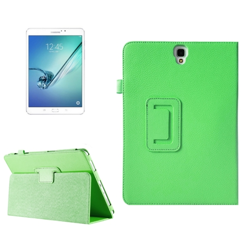 Buy For Samsung Galaxy Tab S3 9.7 / T820 Litchi Texture Horizontal Flip Leather Case with Sleep / Wake-up Function & Holder, Green for $2.42 in SUNSKY store