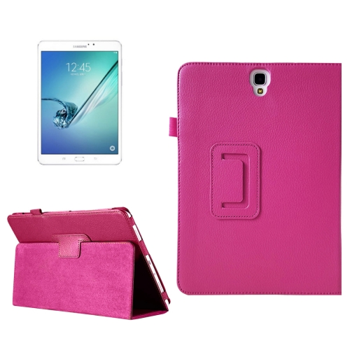 Buy For Samsung Galaxy Tab S3 9.7 / T820 Litchi Texture Horizontal Flip Leather Case with Sleep / Wake-up Function & Holder, Magenta for $2.54 in SUNSKY store
