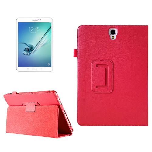 Buy For Samsung Galaxy Tab S3 9.7 / T820 Litchi Texture Horizontal Flip Leather Case with Sleep / Wake-up Function & Holder, Red for $2.42 in SUNSKY store