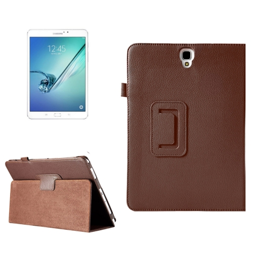 Buy For Samsung Galaxy Tab S3 9.7 / T820 Litchi Texture Horizontal Flip Leather Case with Sleep / Wake-up Function & Holder, Brown for $2.42 in SUNSKY store