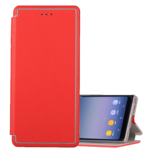 Buy For Samsung Galaxy Note 8 Ultra-thin Magnetic Horizontal Flip Shockproof Protective Leather Case with Holder & Card Slot, Red for $3.74 in SUNSKY store