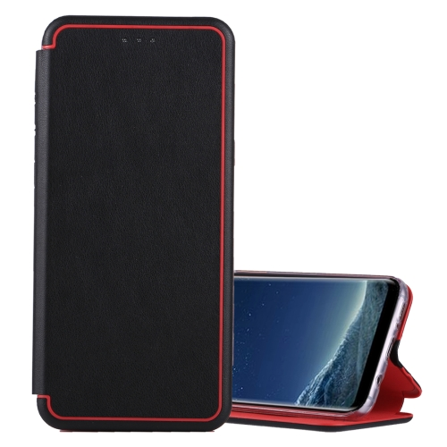 Buy For Samsung Galaxy S8 Ultra-thin Magnetic Horizontal Flip Shockproof Protective Leather Case with Holder & Card Slot, Black for $3.74 in SUNSKY store