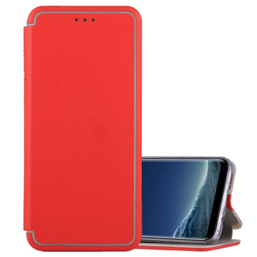 Buy For Samsung Galaxy S8 Ultra-thin Magnetic Horizontal Flip Shockproof Protective Leather Case with Holder & Card Slot, Red for $3.74 in SUNSKY store