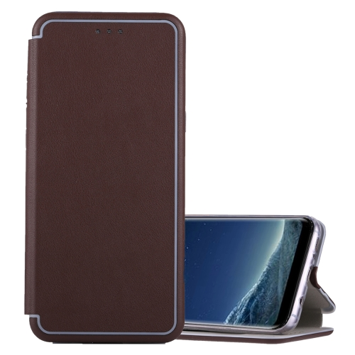 Buy For Samsung Galaxy S8 Ultra-thin Magnetic Horizontal Flip Shockproof Protective Leather Case with Holder & Card Slot, Brown for $3.95 in SUNSKY store