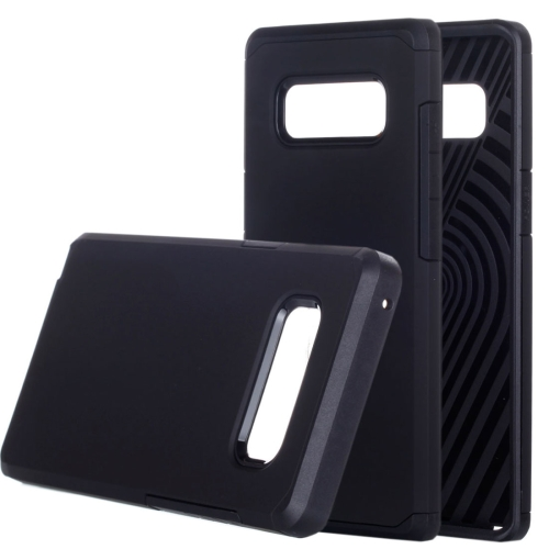 Buy Samsung Galaxy Note 8 Color Matching TPU+PC Rugged Armor Protective Back Cover Case, Small Quanitity Recommended Before Samsung Galaxy Note 8 Lanuching, Black for $2.28 in SUNSKY store