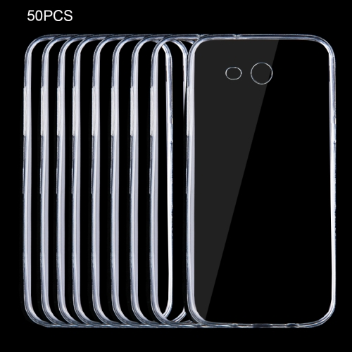 Buy 50 PCS for Samsung Galaxy J3, 2017 (US Version) 0.75mm Ultra-thin Transparent TPU Protective Case for $8.75 in SUNSKY store