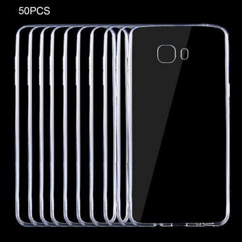 Buy 50 PCS for Samsung Galaxy C9 Pro / C900 0.75mm Ultra-thin Transparent TPU Protective Case for $9.18 in SUNSKY store