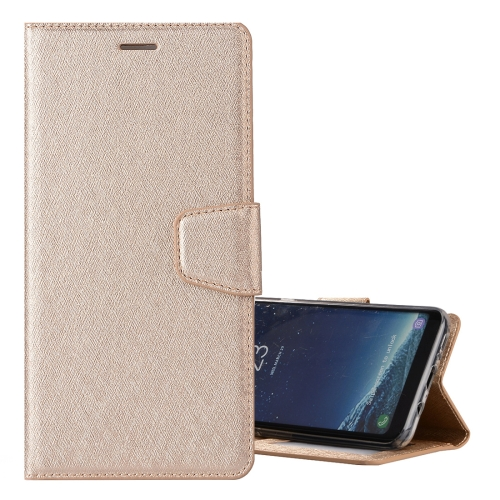 Buy For Samsung Galaxy S8+ / G9550 Silk Texture Horizontal Flip Leather Case with Holder & Card Slots & Wallet & Photo Frame, Gold for $3.19 in SUNSKY store