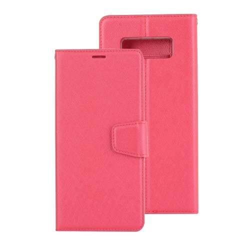 Buy For Samsung Galaxy Note 8 Silk Texture Horizontal Flip Leather Case with Holder & Card Slots & Wallet & Photo Frame, Magenta for $3.19 in SUNSKY store
