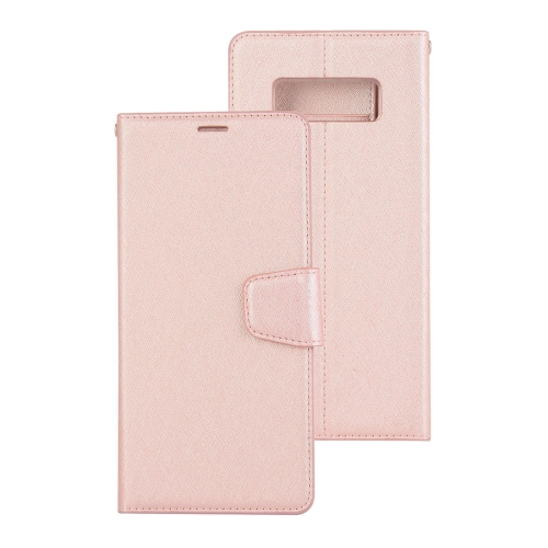 Buy For Samsung Galaxy Note 8 Silk Texture Horizontal Flip Leather Case with Holder & Card Slots & Wallet & Photo Frame (Rose Gold) for $3.19 in SUNSKY store
