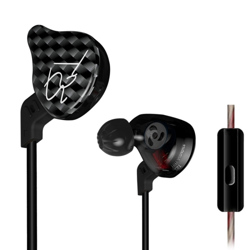 KZ ZST 1.2m 3.5mm Hanging Ear In-Ear Style Wire Control Earphone, For iPhone, iPad, Galaxy, Huawei, Xiaomi, LG, HTC and Other Smart