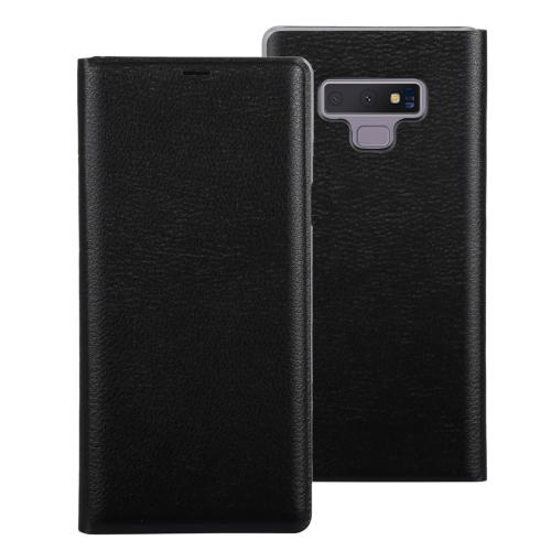 Litchi Texture PU+PC Horizontal Flip Leather Case for Galaxy Note 9 with With Card Slot(Black) protective flip open pu pc case cover w stand card slot for samsung galaxy note 4 white