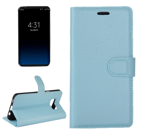 Buy For Samsung Galaxy S8 + / G955 Litchi Texture Horizontal Flip Leather Case with Magnetic Buckle & Holder & Card Slots & Wallet, Blue for $2.21 in SUNSKY store