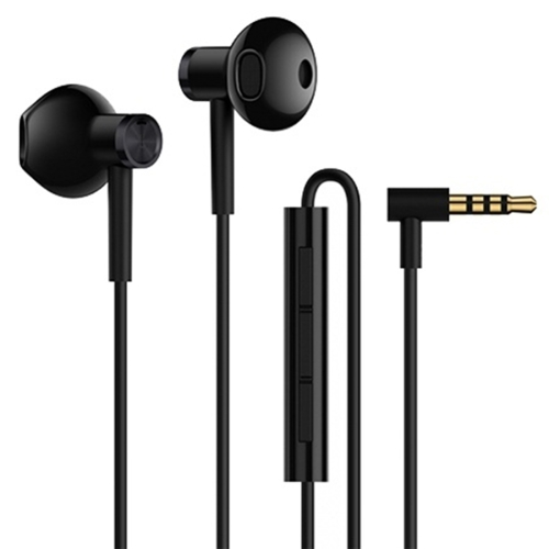 Xiaomi Generally Half In-ear TPE Wire Control Earphone with Mic, For iPhone, iPad, Galaxy, Huawei, Xiaomi, LG, HTC and Other Smartphones(Black)