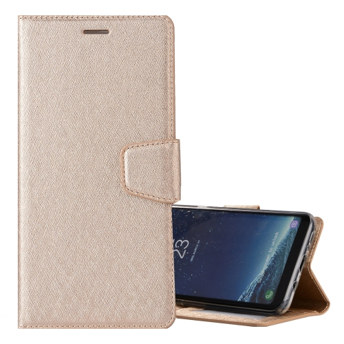 Buy For Samsung Galaxy S8 Silk Texture Horizontal Flip Leather Case with Holder & Card Slots & Wallet & Photo Frame, Gold for $3.19 in SUNSKY store