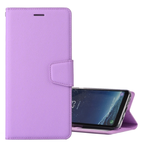 Buy For Samsung Galaxy S8 Silk Texture Horizontal Flip Leather Case with Holder & Card Slots & Wallet & Photo Frame, Purple for $3.19 in SUNSKY store