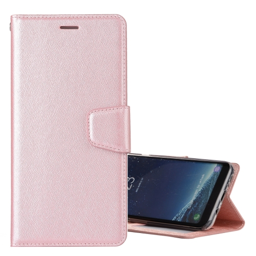 Buy For Samsung Galaxy S8 Silk Texture Horizontal Flip Leather Case with Holder & Card Slots & Wallet & Photo Frame (Rose Gold) for $3.18 in SUNSKY store