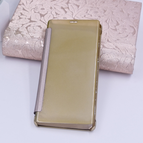 Buy For Samsung Galaxy Note 8 PU + PC High Transparency Frosted Horizontal Flip Leather Case Case with Sleep / Wake-up Function, Gold for $3.03 in SUNSKY store