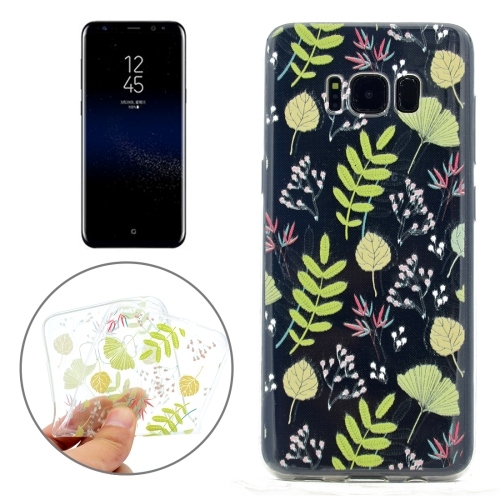 Buy For Samsung Galaxy S8 + / G955 Little Leaf Pattern TPU Soft Protective Back Cover Case for $1.10 in SUNSKY store