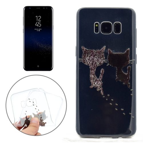 Buy For Samsung Galaxy S8 + / G955 Two Cats Pattern TPU Soft Protective Back Cover Case for $1.15 in SUNSKY store