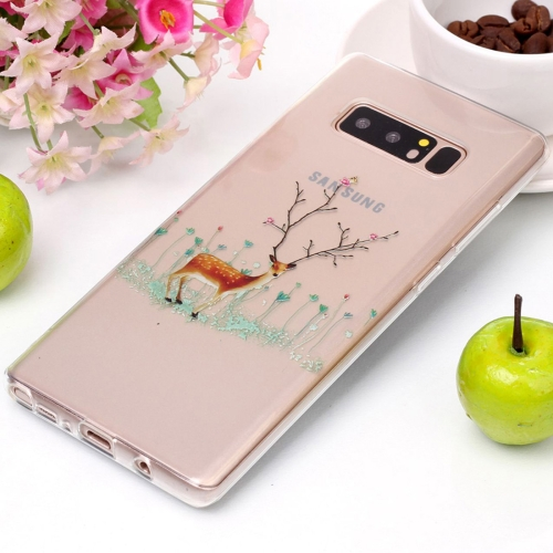 Buy For Samsung Galaxy Note 8 Tree Branch Elk Pattern High Transparency Soft TPU Protective Case for $1.41 in SUNSKY store