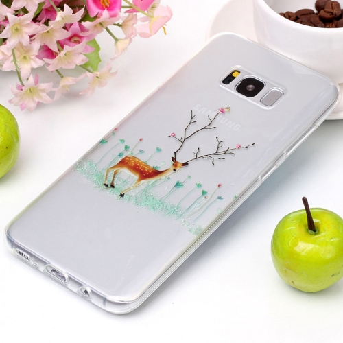 Buy For Samsung Galaxy S8 Tree Branch Elk Pattern High Transparency Soft TPU Protective Case for $1.41 in SUNSKY store
