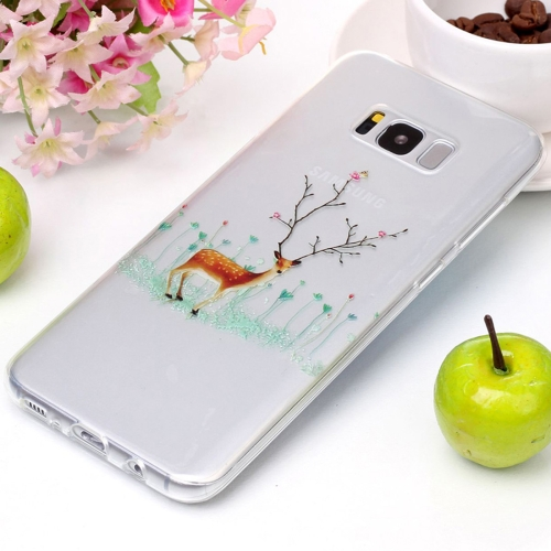 Buy For Samsung Galaxy S8+ / G9550 Tree Branch Elk Pattern High Transparency Soft TPU Protective Case for $1.41 in SUNSKY store