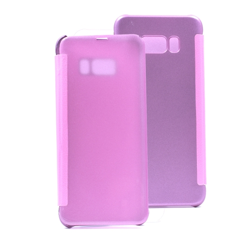 Buy For Samsung Galaxy S8 PU + PC High Transparency Frosted Horizontal Flip Leather Case with Sleep / Wake-up Function, Magenta for $3.03 in SUNSKY store