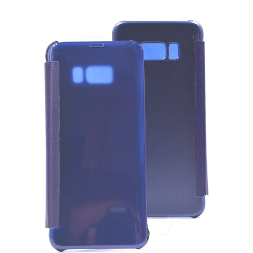 Buy For Samsung Galaxy S8+ / G9550 PU + PC High Transparency Frosted Horizontal Flip Leather Case with Sleep / Wake-up Function (Dark Blue) for $3.03 in SUNSKY store