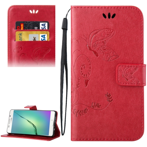 Buy For Samsung Galaxy A5, 2016 / A510 Crazy Horse Texture Printing Horizontal Flip Leather Case with Holder & Card Slots & Wallet & Lanyard, Red for $2.55 in SUNSKY store