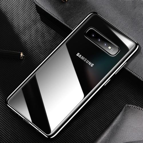 USAMS US-BH487 Electroplating TPU Protective Case for Galaxy S10 (Black)