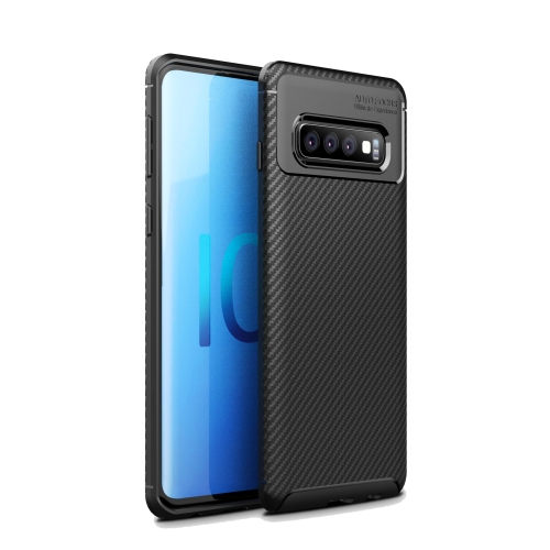 Carbon Fiber Texture Shockproof TPU Case for Galaxy S10 5G (Black)