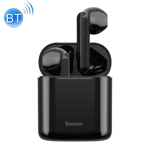 Baseus Encok W09 Bluetooth 5.0 True Wireless Earphones with Charging Case, Support Touch Control(Black)