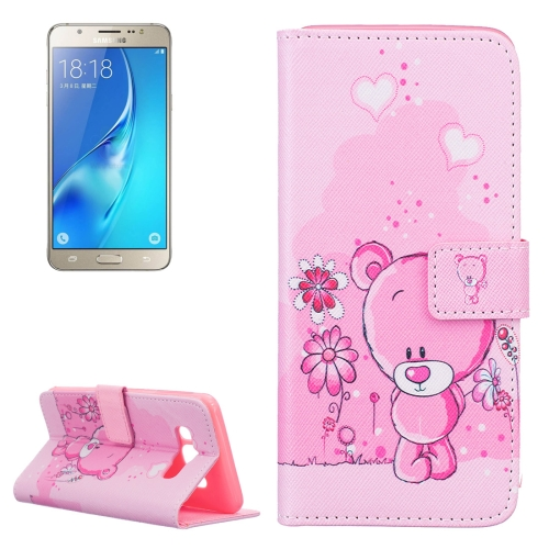 Buy For Samsung Galaxy J5, 2016 / J510 Bear Pattern Horizontal Flip Leather Case with Holder & Card Slots & Wallet for $2.13 in SUNSKY store