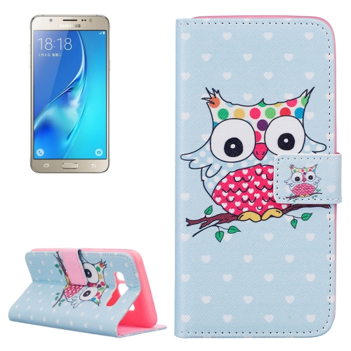 Buy For Samsung Galaxy J5, 2016 / J510 Dot Coloured Owl Pattern Horizontal Flip Leather Case with Holder & Card Slots & Wallet for $2.14 in SUNSKY store