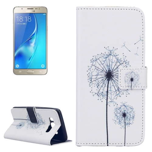Buy For Samsung Galaxy J5, 2016 / J510 White Dandelion Pattern Horizontal Flip Leather Case with Holder & Card Slots & Wallet for $2.14 in SUNSKY store